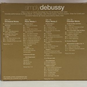 Boxed set of 4 classical CDs - rear cover